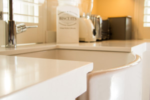 Steenberg Estate 20mm Snow White Caesarstone to Butler Sink